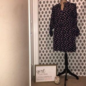 A Crown & Ivy Camel Print Dress